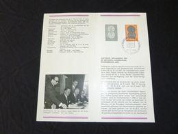 "BELG.1972 1616 NL.folder Met Zegel 1édag Stempel  :  "" Frank "" - FDC"