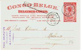 Congo Belge En 1913 De Madimba  , Entier Postal  Pour Mulhouse  TB - Congo Belge