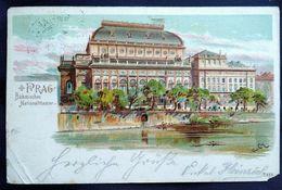 DC2038 - Prag Böhmisches Nationaltheater Litho - Tschechische Republik