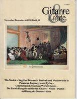 Revue De Musique -  Gitarre & Laute - N° 6 - 1990 - - Music