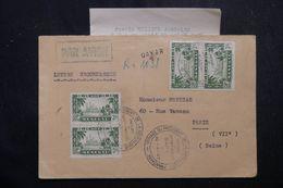 SÉNÉGAL - Enveloppe En Reco. De Dakar Pour Paris En 1947, Oblitération Du Voyage Du Président De La République - L 63296 - Sénégal (1887-1944)