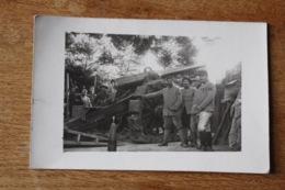 Carte  Photo   WWI  Les Artilleurs Canon Tranchée Superbe Plan - Guerra, Militares