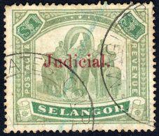 Selangor 1900 Judicial O/p In Red On $1 - Fine Used - Selangor