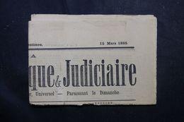 VIEUX PAPIERS - Journal Politique Et Judiciaire De 1885  - L 63302 - Collections