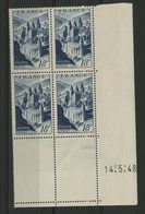 """N° 841A Cote 25 € ** (MNH). Coin Daté Du 14/5/48 """"conques"""". - 1940-1949"""