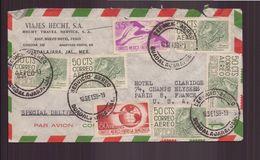 """Mexique, Enveloppe à En-tête """" Viajes Hecht SA """" Du 18 Septembre 1959 De Guadalajara Pour Paris - Mexico"""