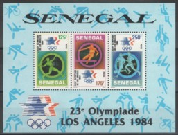 Senegal, 1984, Olympic Summer Games, Sports, MNH, Michel Block 46 - Senegal (1960-...)