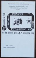 Belgique - 5th World Philatelic Evening - REPRODUCTION EN NOIR - 1968/72 - Feuillets Noir & Blanc