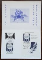 Belgique - FDC Sur Document - YT N°1508, 1509, BF 46 - APOLLO XI - 1969 - FDC