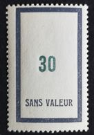 France Fictif N° F111 N** Luxe Gomme D'origine, TTB. Cote 2020 : 3 €. Voir Photos Recto Verso - Fictifs