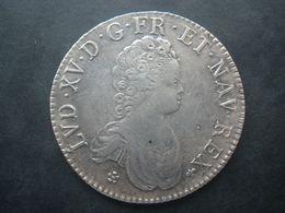 Louis XV écu Vertugadin 1716 Tours E Flan Réformé Acheté à CGB Argent 917/1000 42 Mms 30.49 Grammes - 987-1789 Geld Van Koningen