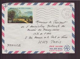 Côte D'Ivoire, Enveloppe Du 13 Janvier 1978 De Bouake Pour Paris - Ivory Coast (1960-...)