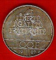 Monnaie Française 100 Francs Lafayette 1987 Argent - Francia