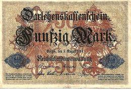 ALLEMAGNE – Darlehenskaffenchein – 50 Mark (05/08/1914) - 50 Mark