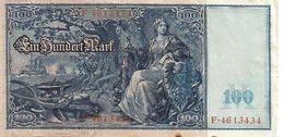 ALLEMAGNE – Reichsbanknote – 100 Mark (21/04/1910) - [ 2] 1871-1918 : German Empire