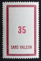 France Fictif N° F133 N** Luxe Gomme D'origine, TTB. Cote 2020 : 2,50 €. Voir Photos Recto Verso - Fictifs
