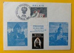 10246 -  Carte Rallye Philatec Paris Pontarlier-Paris 11-14.06.1964 13 Avril Provins - France