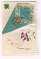 Cpa.Fantaisie.Ajoutis,Dentelles. Médaille Chiffre 13 .Porte Bonheur.  (085) - Fantasia