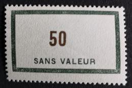 France Fictif RARE N° F134 N** Luxe Gomme D'origine, (petit Pli), TB. Cote 2020 : 20 €. Voir Photos Recto Verso - Fictifs