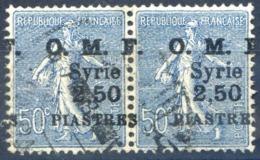 Syrie N°87 (paire) Surcharge Décalée - Oblitéré - (F1214) - Syrie (1919-1945)