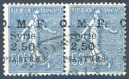 Syrie N°87 (paire) Surcharge Décalée - Oblitéré - (F1215) - Syrie (1919-1945)