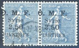 Syrie N°87 (paire) Surcharge Décalée - Oblitéré - (F1216) - Syrie (1919-1945)