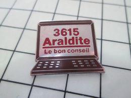 1120 Pin's Pins / Beau Et Rare / THEME : INFORMATIQUE / 3615 ARALDITE LE BON CONSEIL Par SOFREC - Informatique