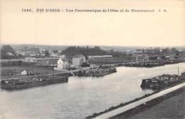 78 - MAURECOURT (Fin D'Oise) Vue Panoramique ( Péniches ) CPA Village (4.420 H) Yvelines / Péniche Barge Lastkähne Aken - Maurecourt