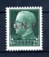 1944 Repubblica Sociale GNR RSI 25c. * - Nuevos