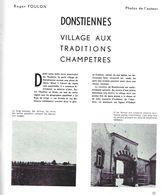 « DONSTIENNES, Village Aux Traditions Champêtres » FOULON, R. In « Hainaut Tourisme » (3/1964) - België