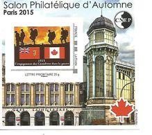 Feuillet Souvenir De La CNEP  Salon D' Automne  A Paris 2015 N° 69 Canada - Sonstige