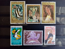 POLYNESIE . 1974.1975.  Poste Aériènne N° 84 à 102. . 6 Oblitérés. Côte Yvert 45,20 €. - Poste Aérienne