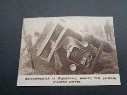 """Origineel Knipsel ( 4448 ) Uit Tijdschrift """" Zondagsvriend """"  1936  :   Autobusongeluk   Wytschaete  Wijtschate - Oude Documenten"""