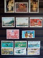 POLYNESIE . 1979 à 1985.  Poste Aériènne N°148 à 188. 5 Neufs + 9 Oblitérés. Côte Yvert 31,80 €. - Poste Aérienne