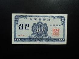 CORÉE DU SUD : 10 JEON   1962   P 28a     NEUF - Korea (Süd-)