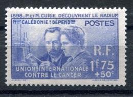 RC 17838 Nelle CALÉDONIE COTE 25€ N° 172 PIERRE ET MARIE CURIE NEUF * TB  MH VF - Nueva Caledonia