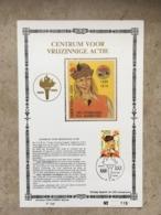 A VOIR CM Sur Soie N° 015 (tirage Limité à 400) Cob 1923 Tijl UILENSPIEGEL Cachet Bruxelles 1000 Brussel 24-2-1979 - Tarjetas – Máxima