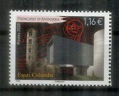 Espai Columba.Musée Des Fresques De L'église Romane De Santa Coloma. Timbre Neuf ** Année 2020 - Französisch Andorra