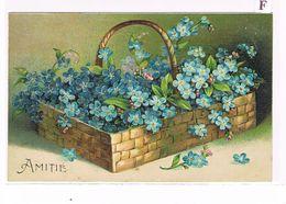 Cpa Fantaisie. Gaufrée. Fleurs.  Amitié.   (108) - Fantasia