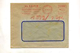 Lettre Flamme Ema Paris 64 Caoutchouc Beltex - Marcophilie (Lettres)