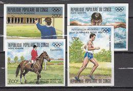 Olympia 1988:  Congo  4 W **, Imperf. - Zomer 1988: Seoel