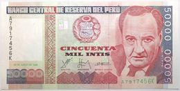 Pérou - 50000 Intis - 1988 - PICK 142 - NEUF - Peru