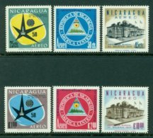 NICARAGUA 1958 Mi 1175-80** World Expo, Brussels [L2797] - 1958 – Brussels (Belgium)