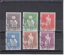 Suisse - Année 1958 - Service - Oblitéré - N°Zumstein 40/45 - BIE - Sujets Symboliques - Service