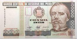 Pérou - 100000 Intis - 1989 - PICK 145 - NEUF - Peru