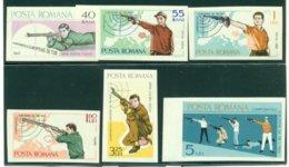 ROMANIA 1965 Mi 2413-18** Shooting [L 2075] - Tiro (armi)