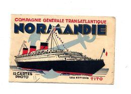 Devant De Pochette Compagnie Transatlantique Normandie - Dépliants Touristiques