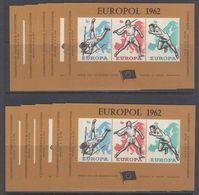 Belgie 1962 Europol Blok 10x ** Mnh (48108) ROCK BOTTOM - Erinnophilie