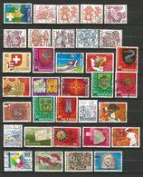 Suisse 1 Lot De 34 Timbres Oblitérés _ N°14 - Sammlungen (ohne Album)