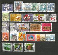 Suisse 1 Lot De 25 Timbres Oblitérés _ N°15 - Ohne Zuordnung